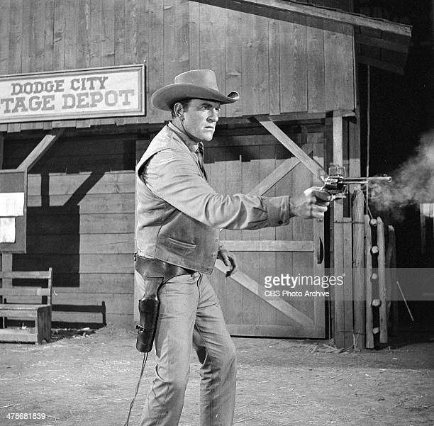 James Arness as Matt Dillon during the GUNSMOKE opening Image dated July 31 1964