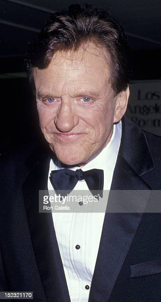 James Arness attends Heritage Museum Gala on February 21 1987 at the Century Plaza Hotel in Century City California