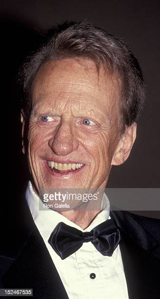 James Arness attends US Marshals Dinner Gala on April 4 1991 at the Gene Autry Museum in Burbank California
