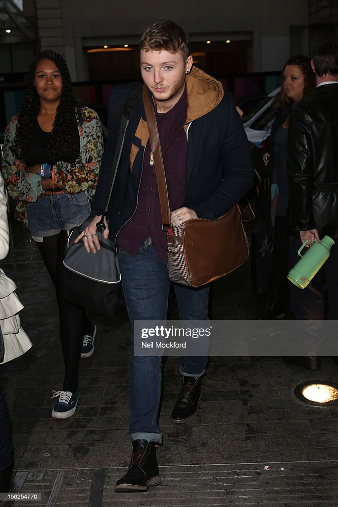 James Arthur from X Factor 2012 seen at St Pancras Eurostar Departures on November 12, 2012 in London, England.