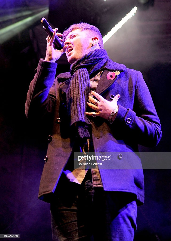 James Arthur onstage at the switch on of the Manchester Christmas lights at Albert Square on November 8, 2013 in Manchester, England.