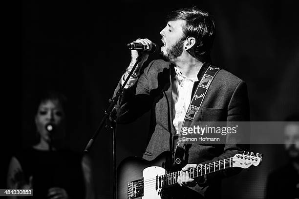James Arthur performs during the Radio Regenbogen Award 2014 on April 11 2014 in Rust Germany