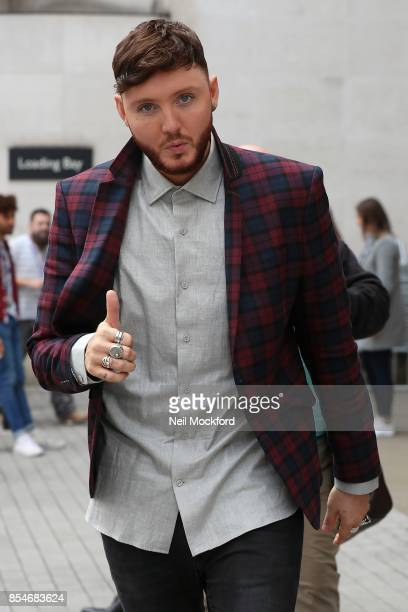James Arthur seen at BBC Radio One after performing in the Live Louge on September 27 2017 in London England
