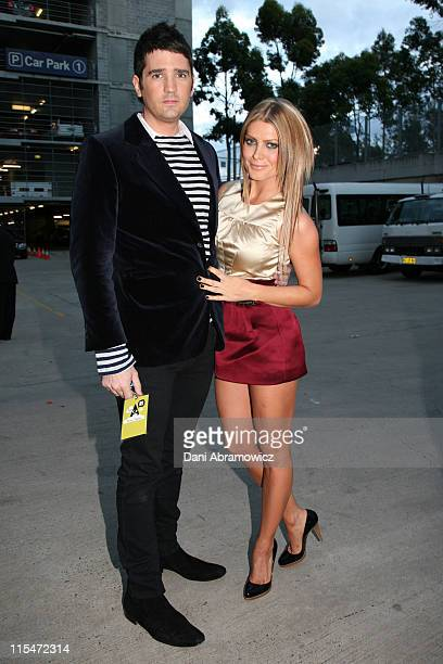 James Ash and Natalie Bassingthwaighte during MTV Australia Video Music Awards 2007 Departure Party at Superdome in Sydney NSW Australia