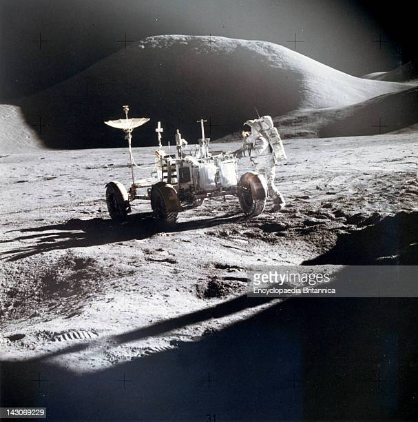 James B Irwin Works At The Lunar Roving Vehicle James B Irwin Working On The Lunar Roving Vehicle During The Apollo 15 Lunar Surface Landing At The...