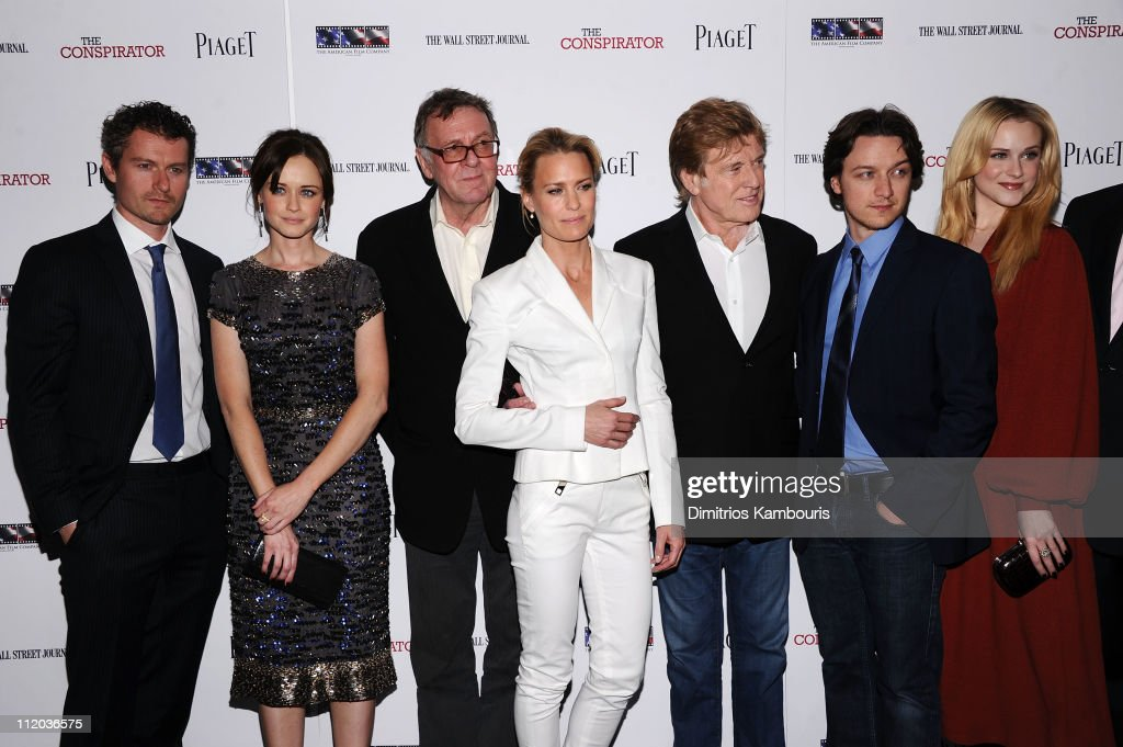 James Badge Dale Alexis Bledel Tom Wilkinson Robin Wright Robert Redford James McAvoy and Evan Rachel Wood attend the New York Premiere of 'The...