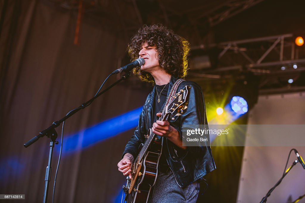 James Bagshaw of Temples performs during the Caught By The River Thames festival at Fulham Palace on August 7 2016 in London England