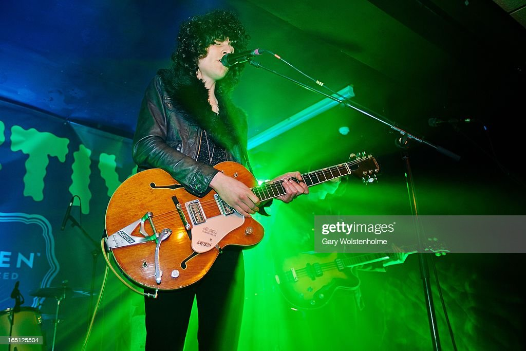 James Bagshaw of Temples performs on stage on Day 2 of Detestival 2013 at Queens Social Club on March 31, 2013 in Sheffield, England.