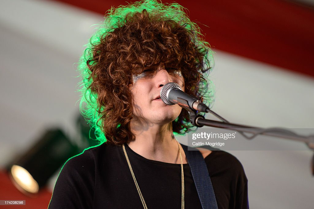 James Bagshaw of Temples performs on stage on Day 4 of Latitude Festival 2013 at Henham Park Estate on July 21, 2013 in Southwold, England.