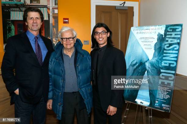 James Balog Albert Maysles and Jeff Orlowski attend Private Screening of CHASING ICE at The Cosby Hotel on December 19 2012 in New York