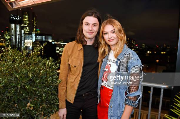 James Bay and India Gants attend the launch of James Bay's new Topman collection at The Ace Hotel on August 8 2017 in London England