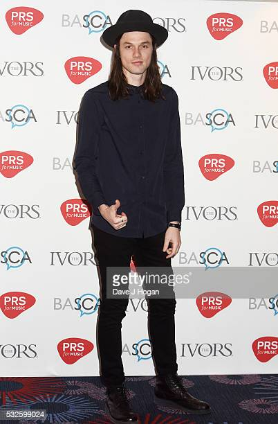 James Bay arrives for the Ivor Novello Awards at Grosvenor House on May 19 2016 in London England
