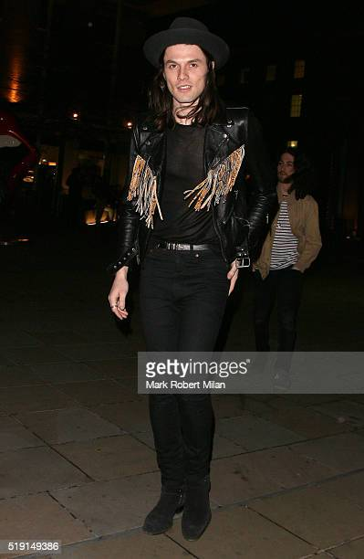 James Bay attending The Rolling Stones 'Exhibitionism' private view at the Saatchi Gallery on April 4 2016 in London England