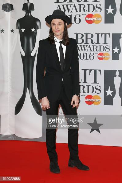 James Bay attends the BRIT Awards 2016 at The O2 Arena on February 24 2016 in London England