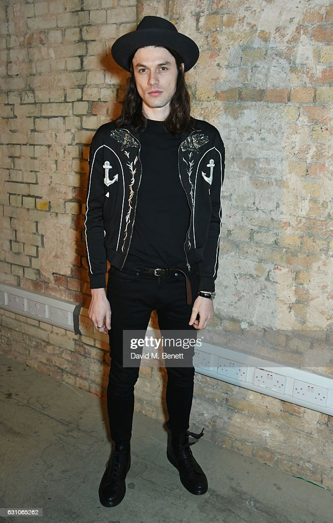 James Bay attends the TOPMAN DESIGN show during London Fashion Week Men's January 2017 collections at the Topman Show Space on January 6, 2017 in London, England.