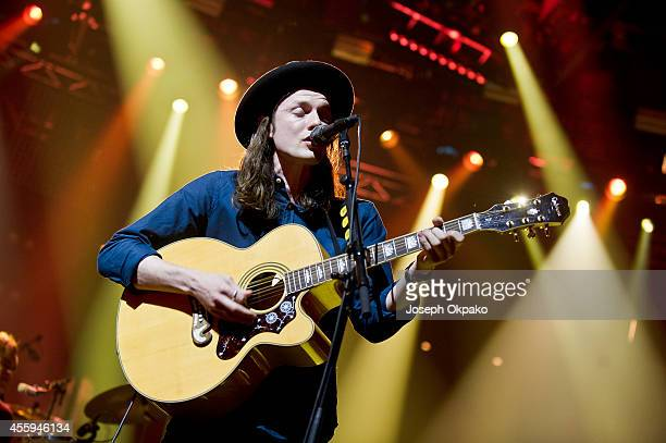 James Bay performs on stage at iTunes Festival at The Roundhouse on September 22 2014 in London United Kingdom