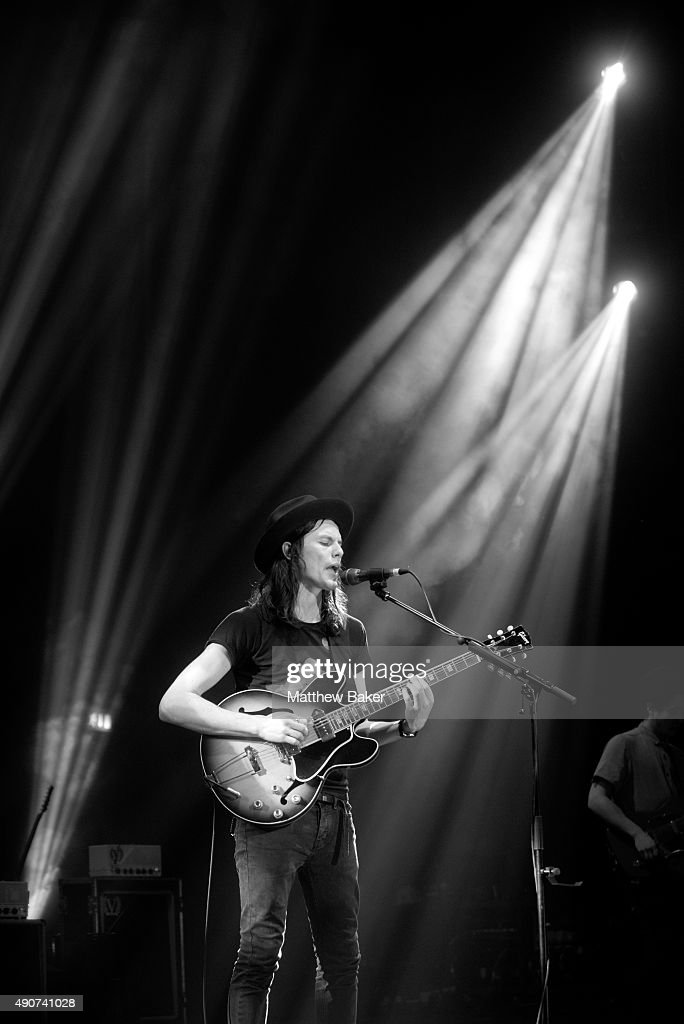 James Bay performs on stage at O2 Academy Brixton on September 30, 2015 in London, England.