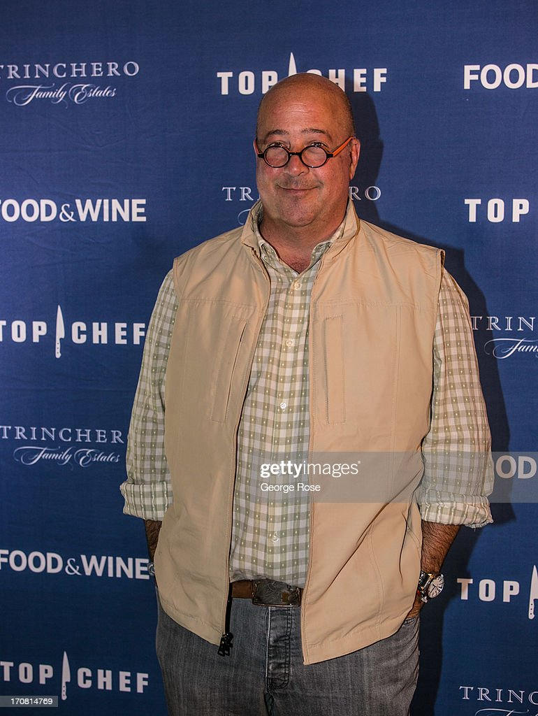 James Beard award-winning TV personality and chef, Andrew Zimmerman, poses for photographers on June 13, 2013, in Aspen, Colorado. The 31st Annual Food & Wine Classic brings together the world's top chefs and vintners in a culinary and beverage celebration.