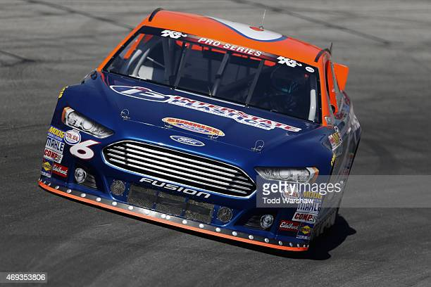 James Bickford drives the Sunrise Ford/Interstate Plastics Ford during practice for the King Taco Catering/NAPA Auto Parts 150 at Irwindale Speedway...