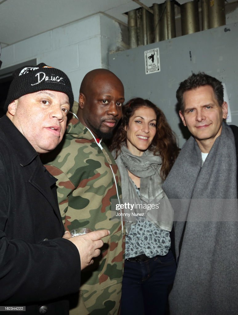 James 'Bimmy' Antney, <a gi-track='captionPersonalityLinkClicked' href=/galleries/search?phrase=Wyclef+Jean&family=editorial&specificpeople=171115 ng-click='$event.stopPropagation()'>Wyclef Jean</a>, <a gi-track='captionPersonalityLinkClicked' href=/galleries/search?phrase=Julie+Greenwald&family=editorial&specificpeople=705989 ng-click='$event.stopPropagation()'>Julie Greenwald</a>, and Craig Kallman attend Waka Flocka's 'Thank You To Hip Hop' concert at BB King on February 21, 2013, in New York City.