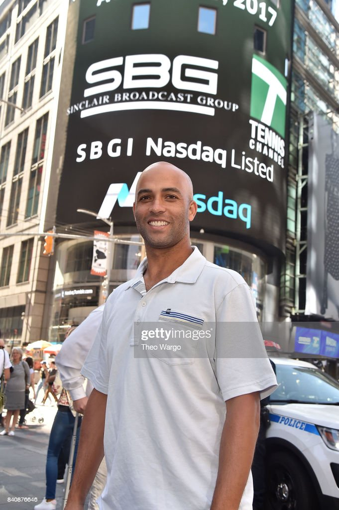 James Blake at the Tennis Channel Rings The Nasdaq Stock Market Opening Bell at NASDAQ MarketSite on August 30, 2017 in New York City.