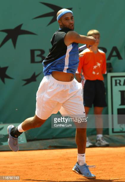 James Blake of the USA defeating Nicolas Almagro of Spain 67 62 64 64 in the second round of the French Open in Paris France on June 1 2006