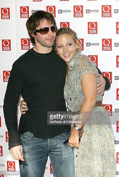 James Blunt and Camilla Bower during 2005 Q Awards at Grosvenor House Hotel Park Lane in London Great Britain