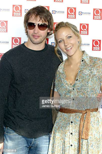 James Blunt and Camilla Bower during Q Awards 2005 at Grosvenor House in London Great Britain