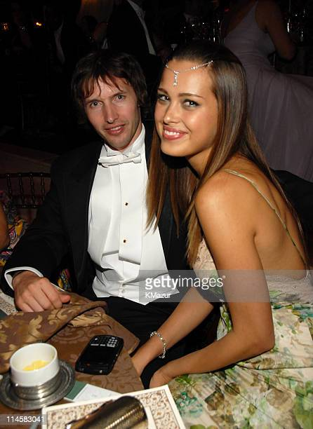 James Blunt and Petra Nemcova during The 8th Annual White Tie and Tiara Ball to Benefit the Elton John AIDS Foundation in Association with Chopard...