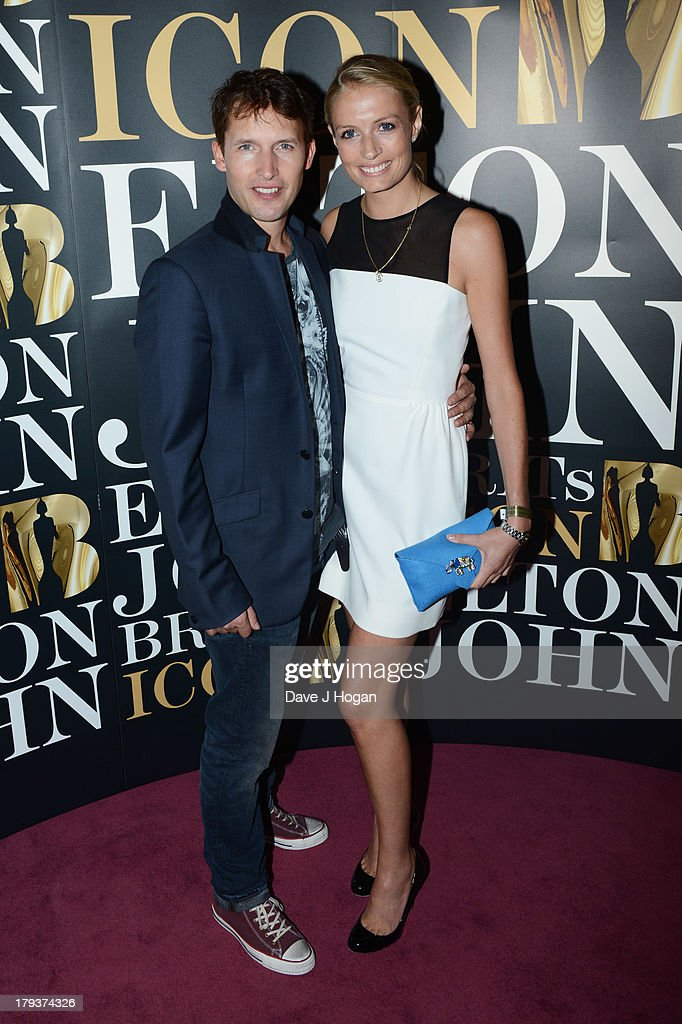 <a gi-track='captionPersonalityLinkClicked' href=/galleries/search?phrase=James+Blunt&family=editorial&specificpeople=209243 ng-click='$event.stopPropagation()'>James Blunt</a> and Sofia Wellesley attend Elton John's 'Brits Icon' concert at The Palladium on September 2, 2013 in London, England.