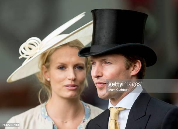 James Blunt and Sofia Wellesley attend Royal Ascot 2017 at Ascot Racecourse on June 24 2017 in Ascot England