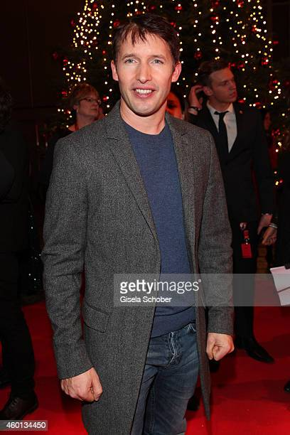 James Blunt arrives at the Ein Herz fuer Kinder Gala 2014 at Tempelhof Airport on December 6 2014 in Berlin Germany