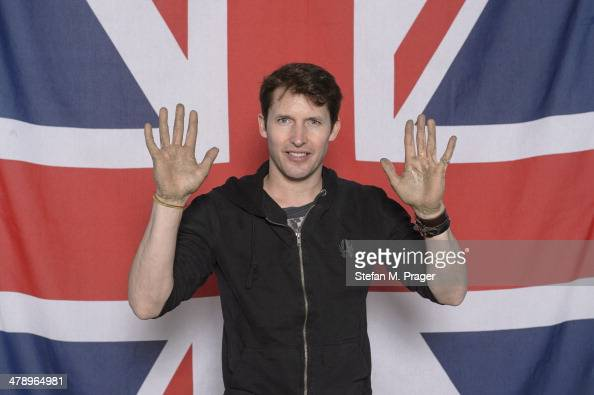 James Blunt attends the Ceremony for the Munich Olympic Walk Of Stars at Olympiahalle on March 13 2014 in Munich Germany