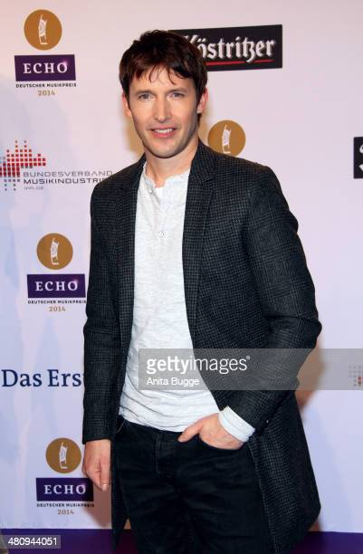 James Blunt attends the 'Echo Award 2014' on March 27 2014 in Berlin Germany