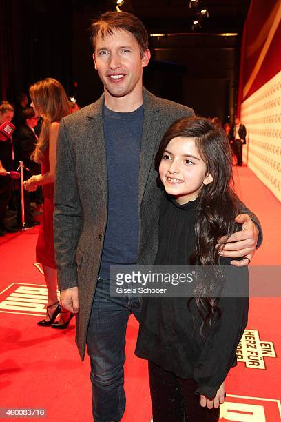 James Blunt attends the Ein Herz fuer Kinder Gala 2014 at Tempelhof Airport on December 6 2014 in Berlin Germany