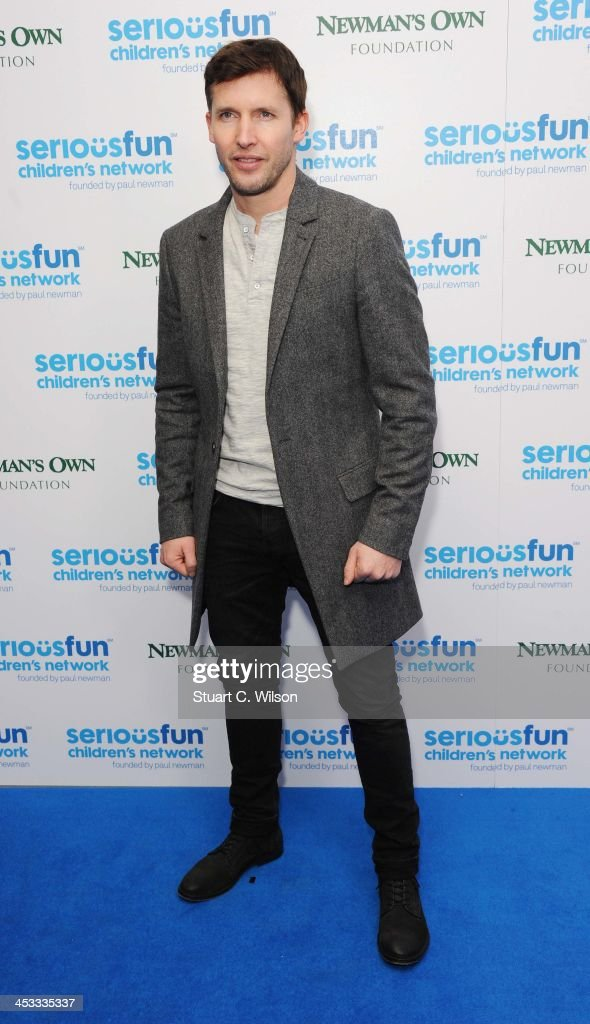 <a gi-track='captionPersonalityLinkClicked' href=/galleries/search?phrase=James+Blunt&family=editorial&specificpeople=209243 ng-click='$event.stopPropagation()'>James Blunt</a> attends the SeriousFun London Gala 2013 at The Roundhouse on December 3, 2013 in London, England.The Serious Fun Children's Network is a growing community of camps and programs serving children with serious illnesses and their families and was set up by Paul Newman in 1988.