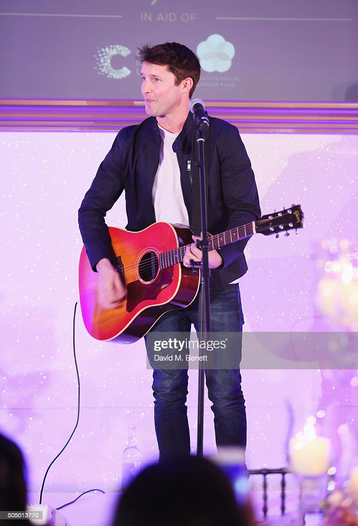 James Blunt performs at The Lady Garden Gala hosted by Chopard in aid of Silent No More Gynaecological Cancer Fund and Cancer Research UK at Claridge's Hotel on January 14, 2016 in London, England.