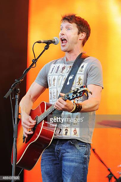James Blunt performs live at The Jaguar Land Rover Invictus Games Closing Concert at Olympic Park on September 14 2014 in London England