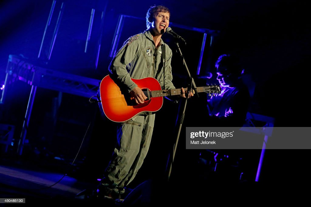 James Blunt performs live for fans as part of his Moon Landing World Tour at Crown Theatre on June 12, 2014 in Perth, Australia.