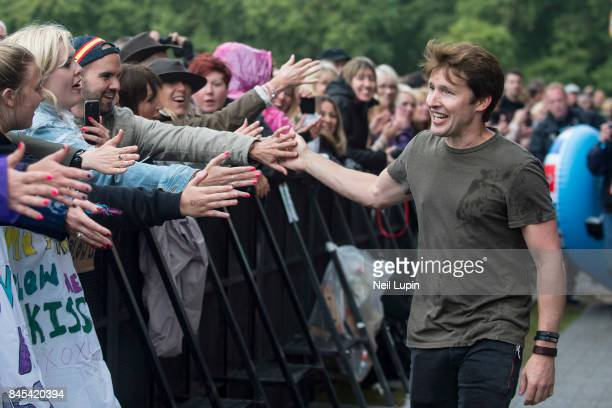 James Blunt performs live on stage during BBC Radio 2 Live at Hyde Park on September 10 in London ENGLAND