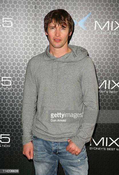 James Blunt poses during an event with Sydney's MixFM drive hosts Ant and Becks at The Swissotel on May 16 2011 in Sydney Australia