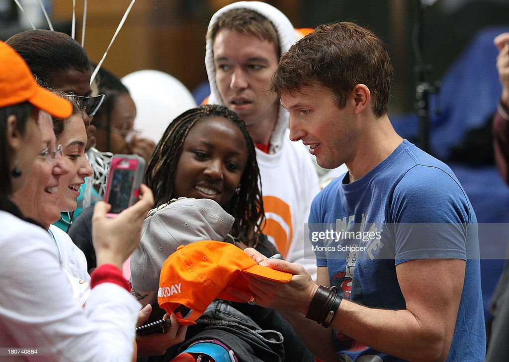 James Blunt signs autographs following his performance on NBC's 'Today' at NBC's TODAY Show on September 16, 2013 in New York City.