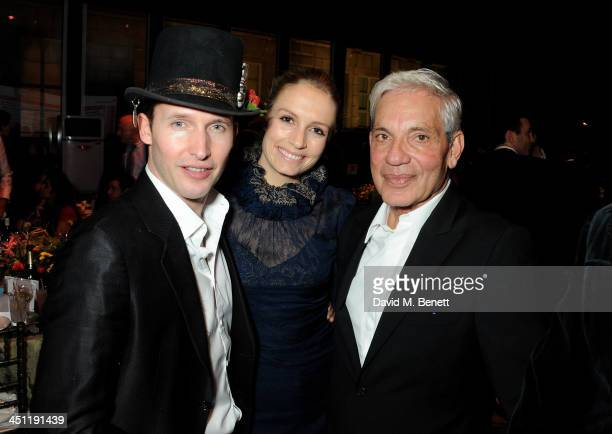 James Blunt Sofia Wellesley and Simon Reuben attend the Adventure in Wonderland Ball held by The Reuben Foundation in aid of Great Ormond Street...