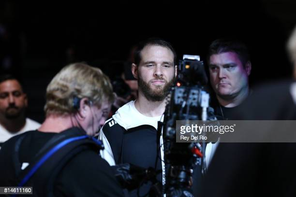 James Bochnovic enters the Octagon before facing Trevin Giles during the UFC 213 event at TMobile Arena on July 9 2017 in Las Vegas Nevada