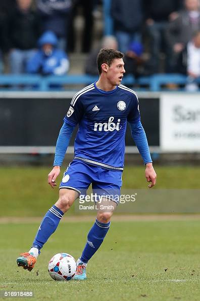 James Bolton of FC Halifax Town during the FA Trophy Semi Final Second Leg match between FC Halifax Town and Nantwich Town at The Shay Stadium on...