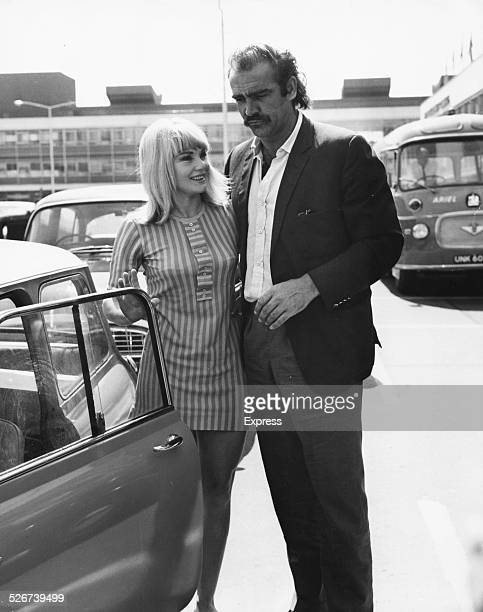 'James Bond' actor Sean Connery and his wife Diane Cilento getting into their car at Heathrow Airport London July 7th 1967