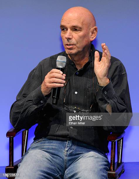 James Bond film director Martin Campbell speaks at the Panasonic booth as MGM Studios and Twentieth Century Fox Home Entertainment unveil 'Bond 50' a...