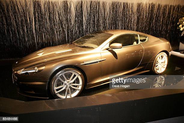 James Bonds car at the afterparty for the Royal World Premiere of the new James Bond 007 film 'Quantum of Solace' held at Battersea Power Station on...