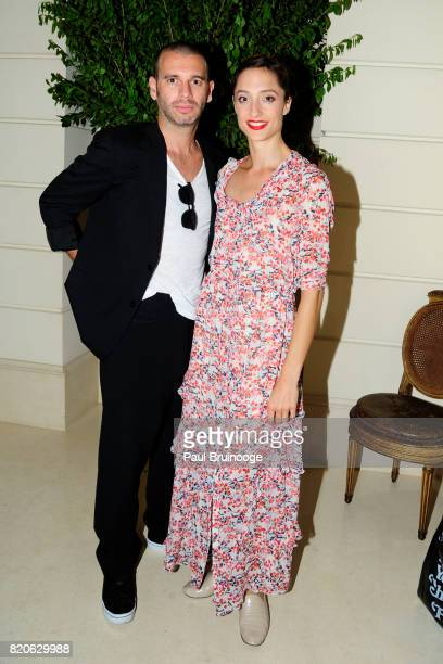 James Bort and Dorothee Gilbert attend Youth America Grand Prix Jewels 50th Anniversary Celebration at Home of Susan Gutfreund on July 21 2017 in New...