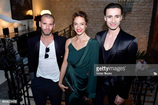 James Bort Dorothee Gilbert and Sebastien Bertaud attend the Balmain After Party during Paris Fashion Week on June 24 2017 in Paris France